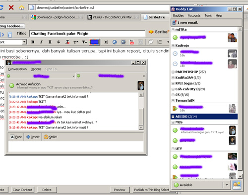 pidgin - chat facebook